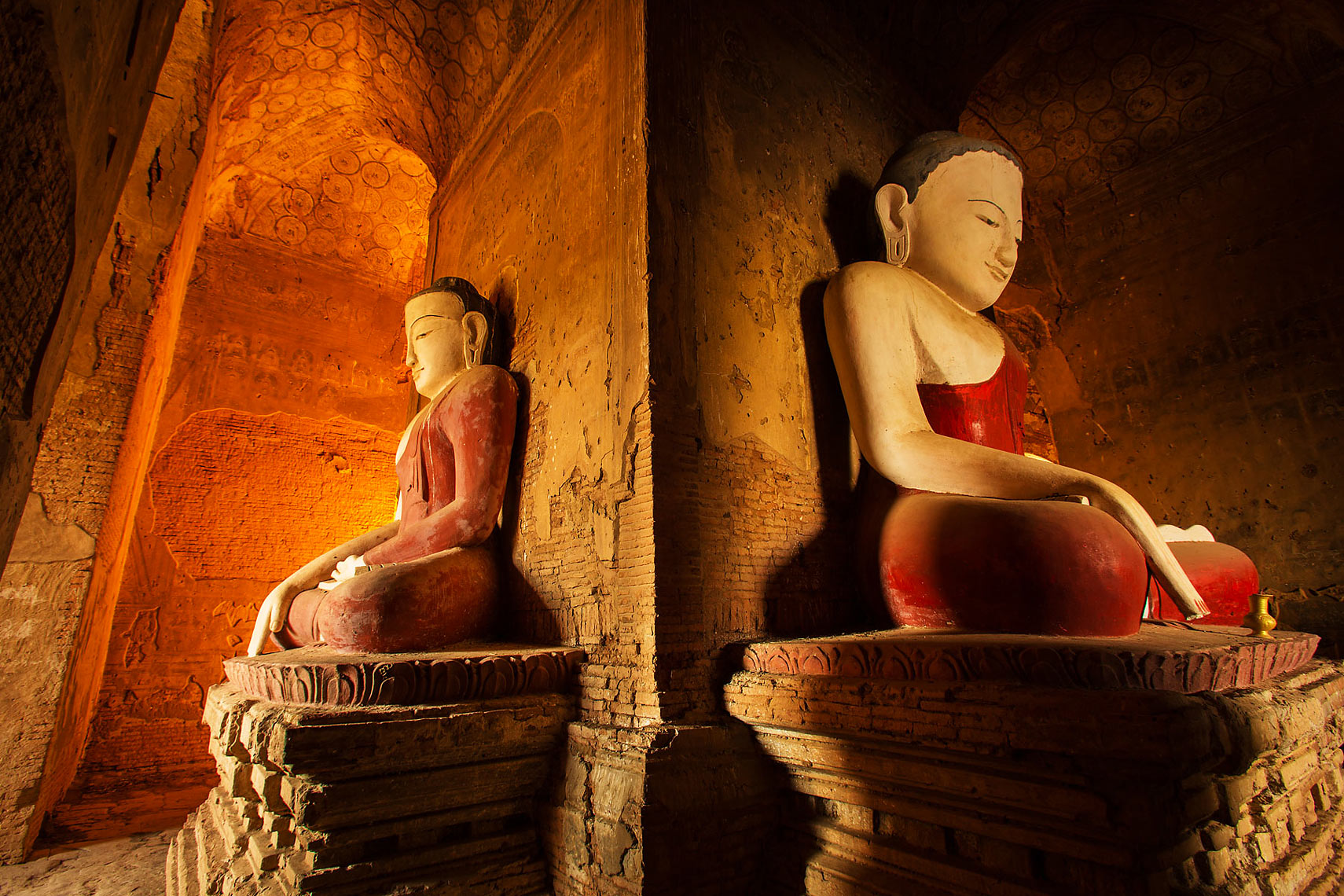 Buddhist temple in Bagan Myanmar by Dave White Photo while in Burma